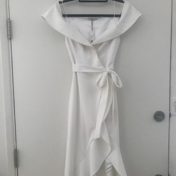 340308ae1a Alice + Olivia Dresses | Alice Olivia Josie Off Shoulder Wrap Dress ...